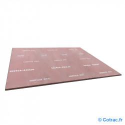 Tôle d'usure Hardox 400, 750 x 1500 x 25 mm
