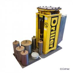 Carotteuse hydraulique automatique DRILLER + LOT de cloches