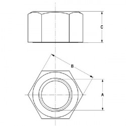 Ecrou 5/8 (15.9 mm)