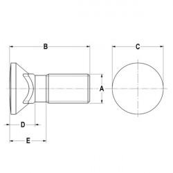 """Vis TFCC 5/8 x 4"""" (15.9 x 101.6 mm)"""