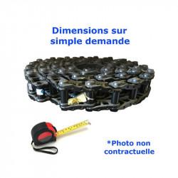 Chaîne acier nue de Pousseur KOMATSU D50 PL 17 serie 80001-UP
