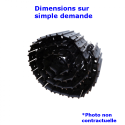 Chaîne acier Tuilée alternative de Mini-pelle YANMAR B50 VICTAS ASYMMETRIC 2B