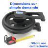 Roue Folle de Pelleteuse CASE 90 BCKE serie 23271-UP