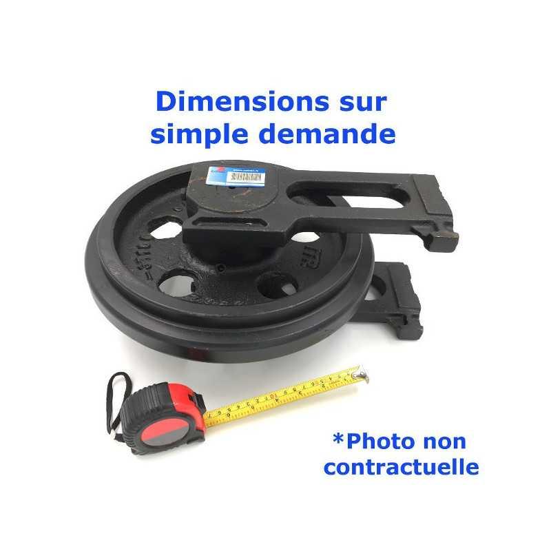 Roue Folle de Pousseur CASE 1550 LGP