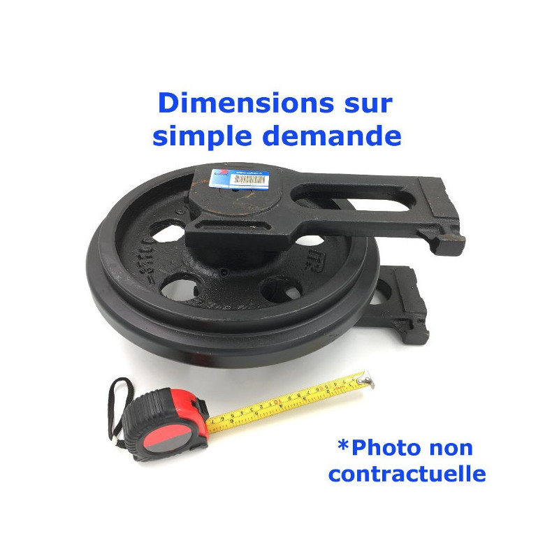 Roue Folle de Pousseur CATERPILLAR D6 R Serie CAD 1-UP